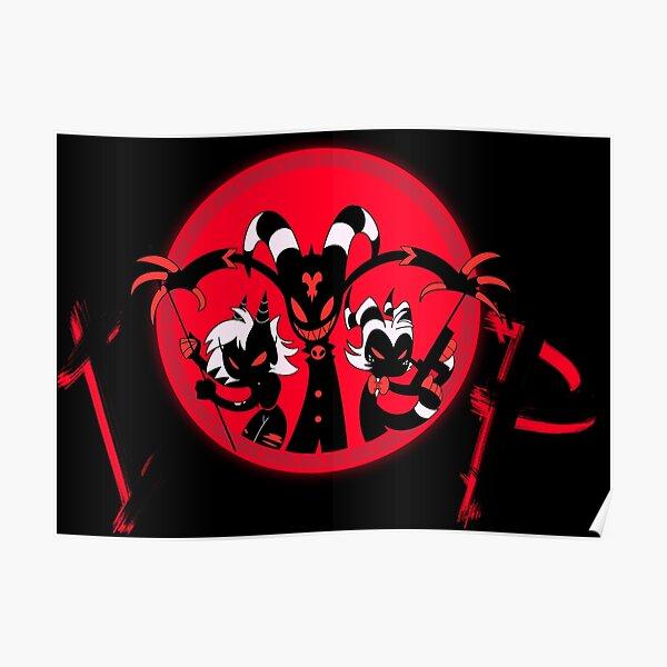 I.M.P. Immediate Murder Professionals logo (red on black) Poster