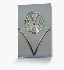 VW Splitty Badge Greeting Card