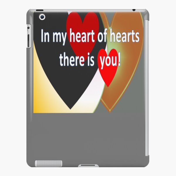 Flashy loud hearts with love quote iPad Snap Case