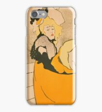 Henri de Toulouse-Lautrec  - Jane Avril (1893) Woman Portrait Fashion iPhone Case/Skin