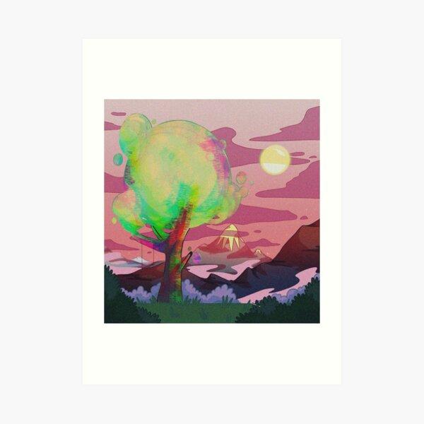 Glitchy tree Art Print