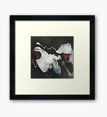 Kiss Chase Framed Print