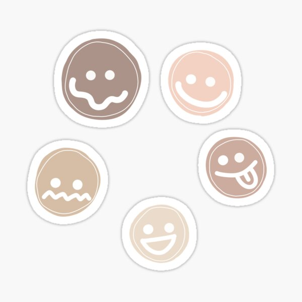 cute faces - pack of 5 Sticker