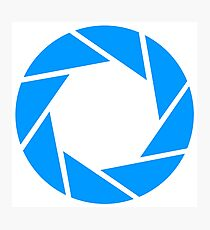 Aperture science logo merch! Photographic Print