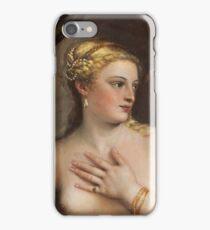 Tiziano Vecellio, Titian - Venus with a Mirror  iPhone Case/Skin