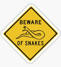 Beware of Snakes, Road Sign, Australia Sticker