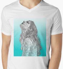 Sketch of Tender Hope Mens V-Neck T-Shirt