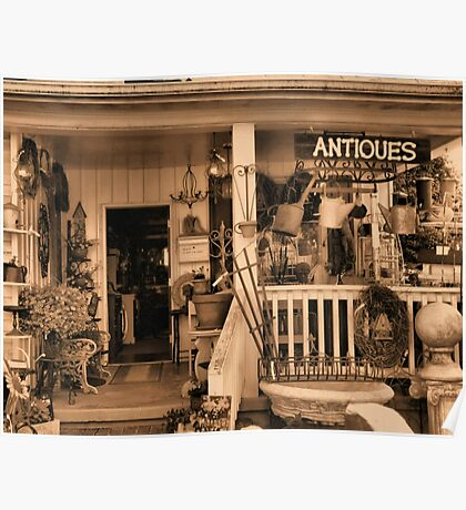 """""""Ruthie's Antiques""""... prints and products Poster"""