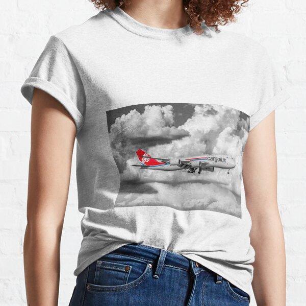 Boeing 747-800 CargoLux color selective Classic T-Shirt
