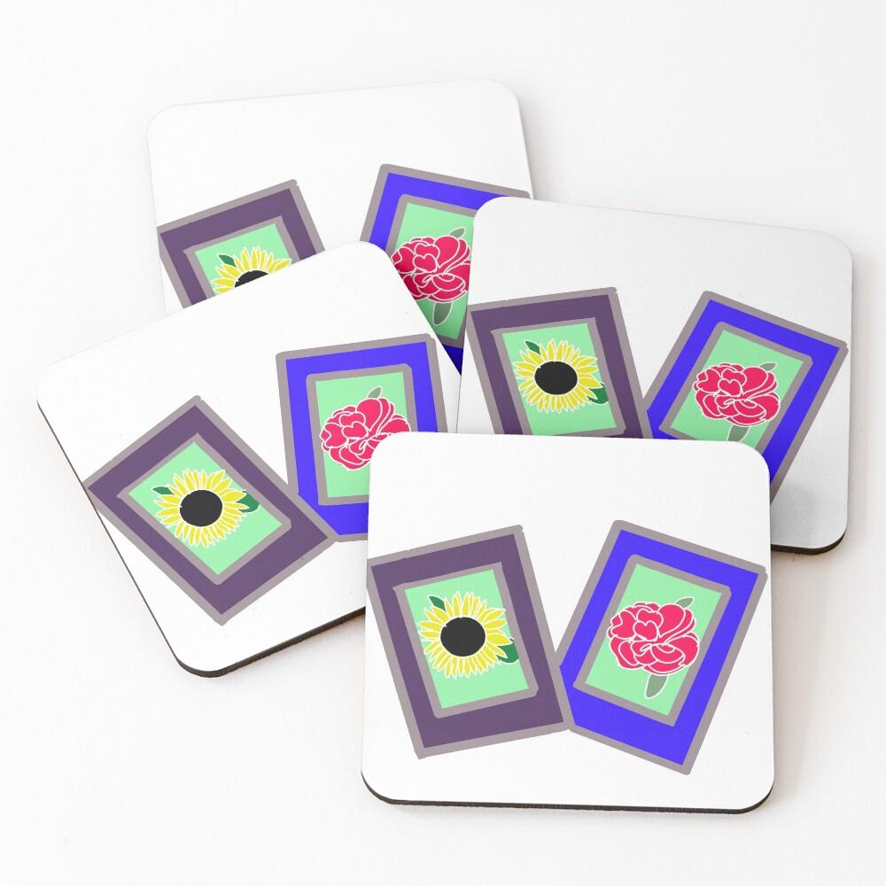 Flower Polaroids Coasters (Set of 4)
