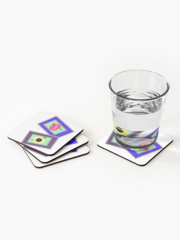 Alternate view of Flower Polaroids Coasters (Set of 4)