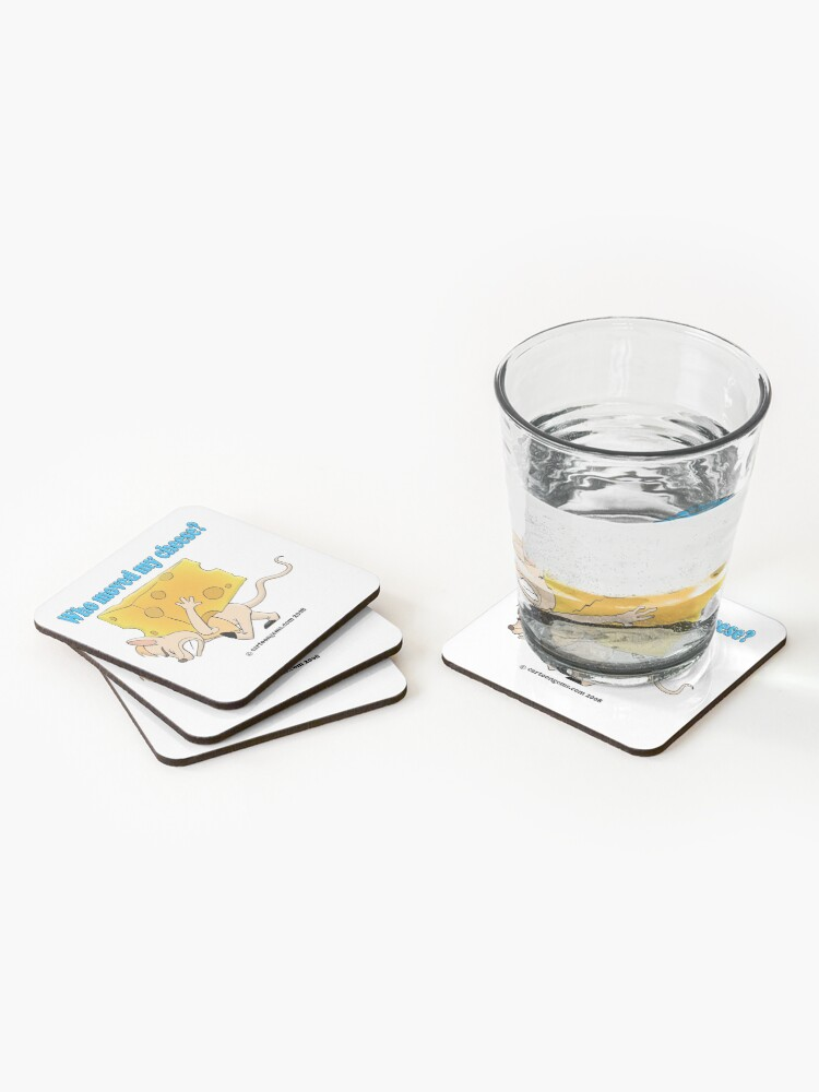 Alternate view of Who Moved My Cheese? Coasters (Set of 4)