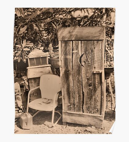 """""""OUTHOUSE AND NEXT IN LINE""""... prints and products Poster"""