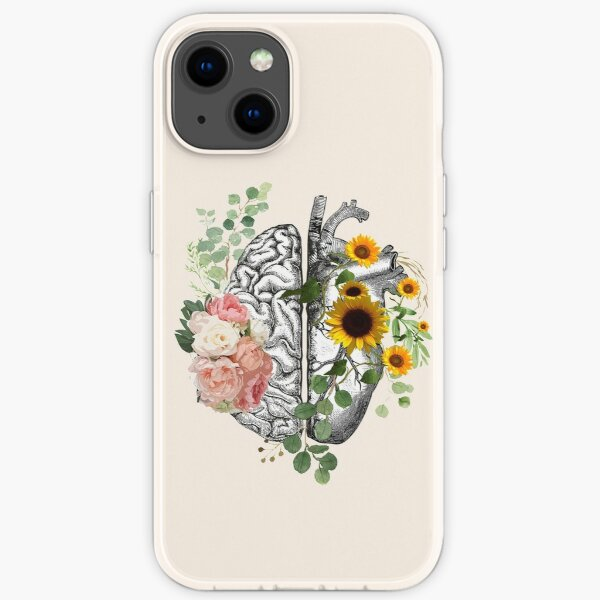 Right balance between head and heart, roses and sunflowers,watercolor iPhone Soft Case