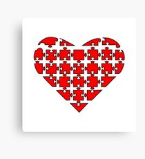 Heart Puzzle Canvas Print