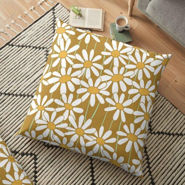 Yellow Daisies Floor Pillow