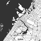 Dubai Stadtplan Grau von HubertRoguski