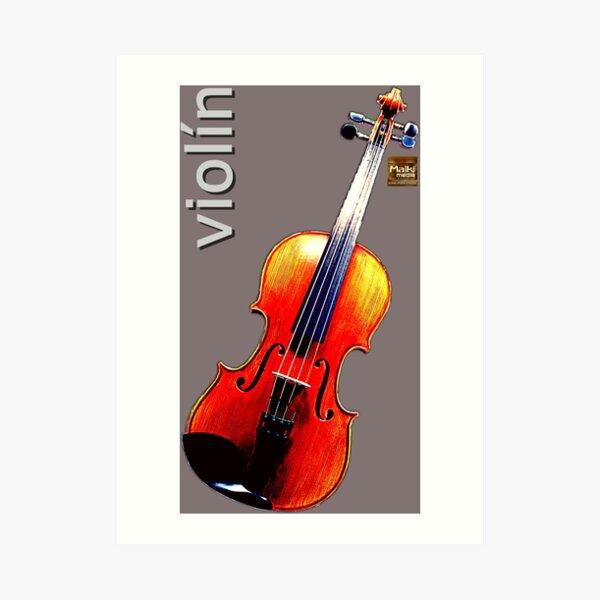 Geige Kunstdruck