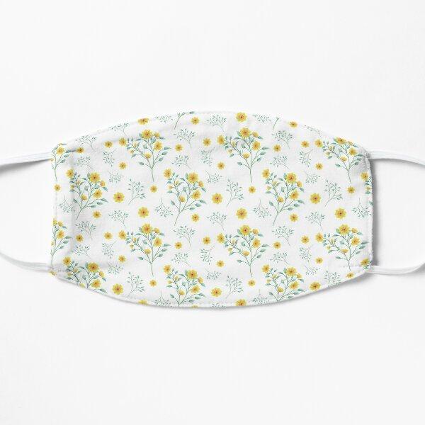 Yellow Floral Splash Flat Mask