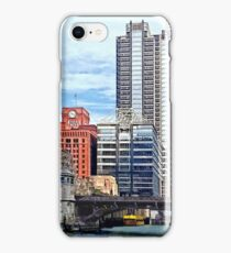 Chicago IL - Water Taxi Passing Under Lyric Opera Bridge iPhone Case/Skin
