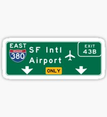 San Francisco International Airport (SFO), Road Sign, California Sticker
