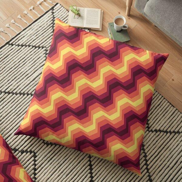 Rainbow artistic waves pattern Floor Pillow