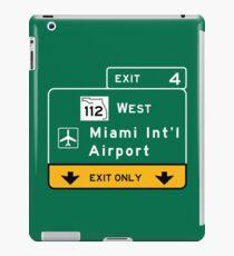 Miami International Airport (MIA), Road Sign, Florida iPad Case/Skin