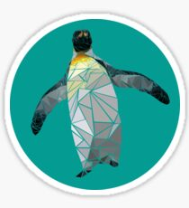 Geometric Waddling Penguin Sticker