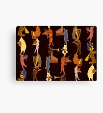Medieval Bestiary Band  Canvas Print