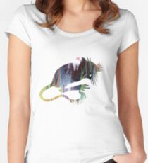 Mouse Silhouette Women's Fitted Scoop T-Shirt