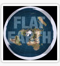 Flat earth,boom,reality check, Sticker