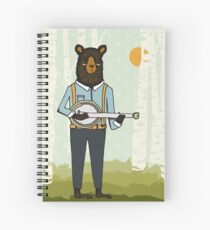 Banjo Bear by Paper Sparrow Spiral Notebook