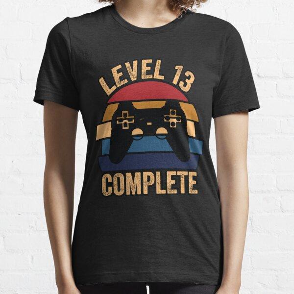 13 ° aniversario de regalo, nivel 13 completo, divertido 13 ° aniversario, regalo de papá jugador, regalo del día del padre Camiseta esencial