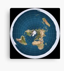 The truth, flat earth ,  Canvas Print