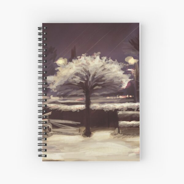 The Tree and the Snow Spiral Notebook