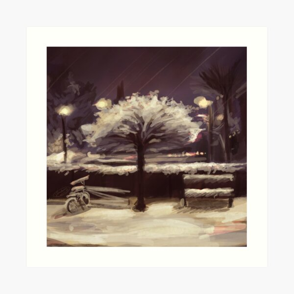 The Tree and the Snow Art Print