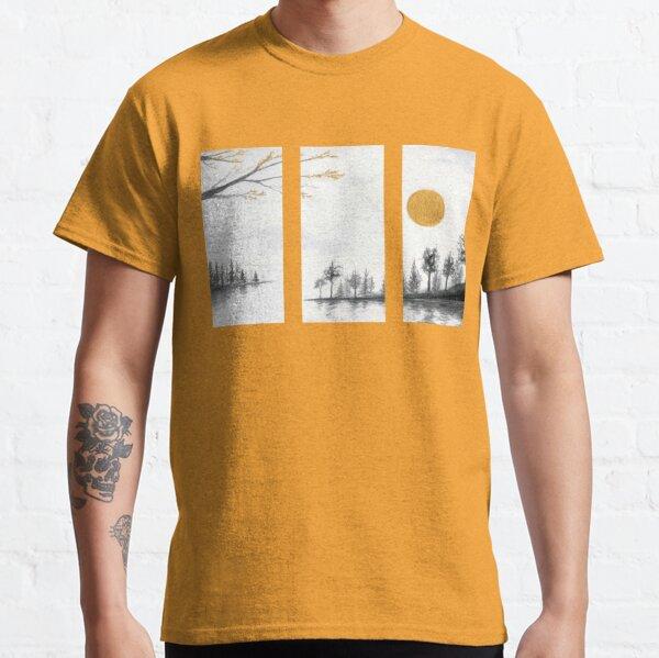 Phantasmagoria Watercolor Landscape Painting Classic T-Shirt