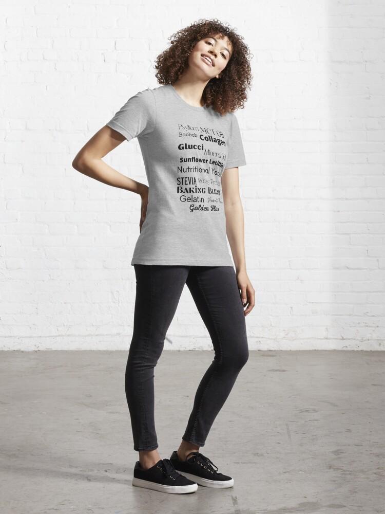Alternate view of Stevia Baobob Health Wellness Lingo Essential T-Shirt