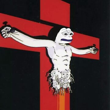 crucified pepe by X-9321
