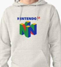 N64 Logo (With Text) Pullover Hoodie