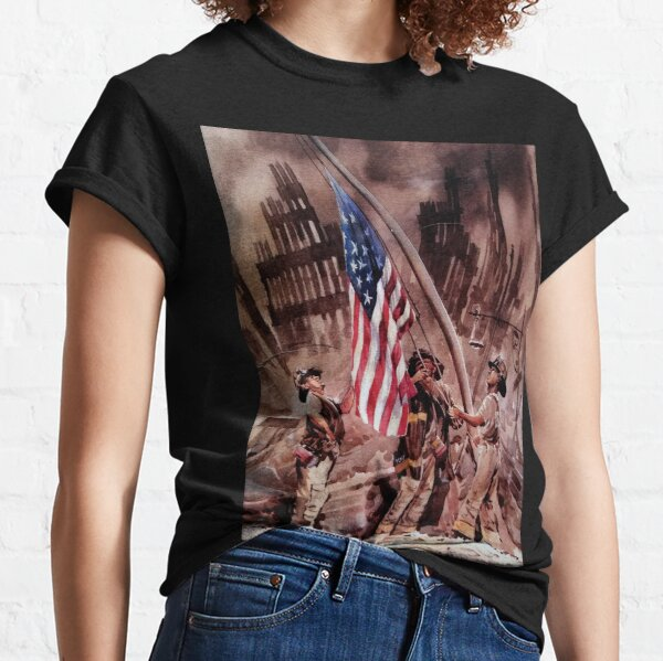 9/11 NYPD and FDNY, Heroes of our Time Classic T-Shirt