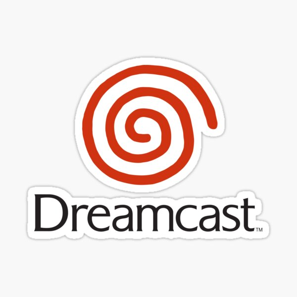 Dreamcast Logo (With Text) Sticker