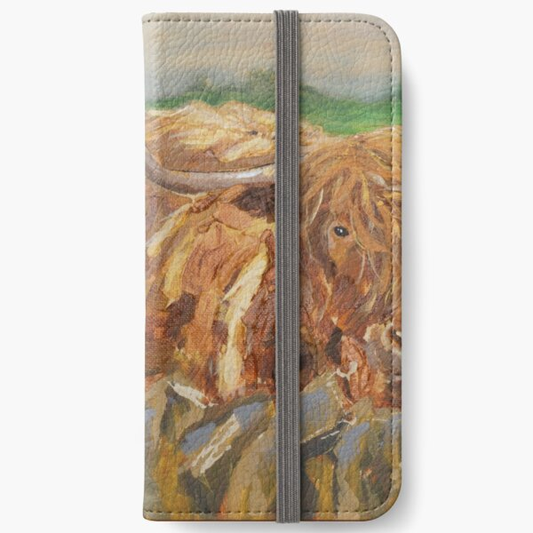 Scotland Highland Cow iPhone Wallet