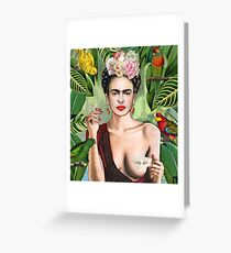 Frida con amigos Greeting Card