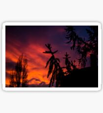Dramatic sky during sunset Sticker