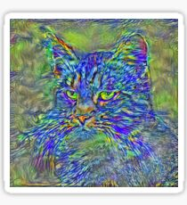 Artificial neural style Post-Impressionism cat Sticker