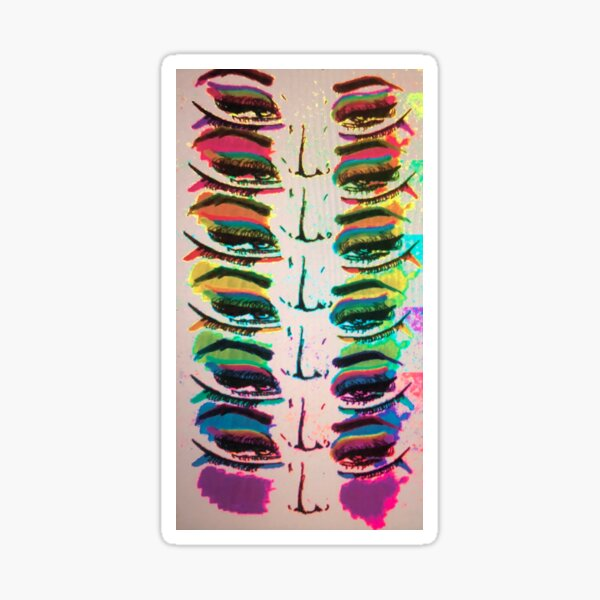 Rainbow Eyes Sticker