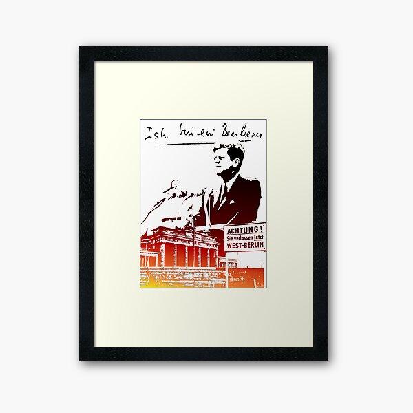 Ich bin ein Berliner, Berlin Wall, T-shirt Framed Art Print