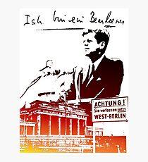 Ich bin ein Berliner, Berlin Wall, T-shirt Photographic Print