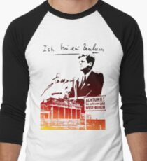 Ich bin ein Berliner, Berlin Wall, T-shirt Men's Baseball ¾ T-Shirt